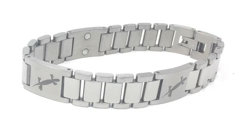Mens Magnetic Stainless Steel and Titanium Bracelet
