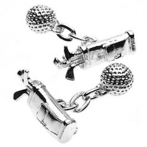 Christopher Simpson Silver Plated Golf Cufflinks Boxed