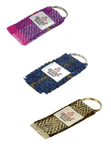 Harris Tweed Keyrings in Choice of Design / Colour