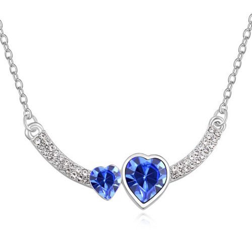Betsy Morgan Love Hearts Crystal Necklace with Swarovski Elements For Someone Special