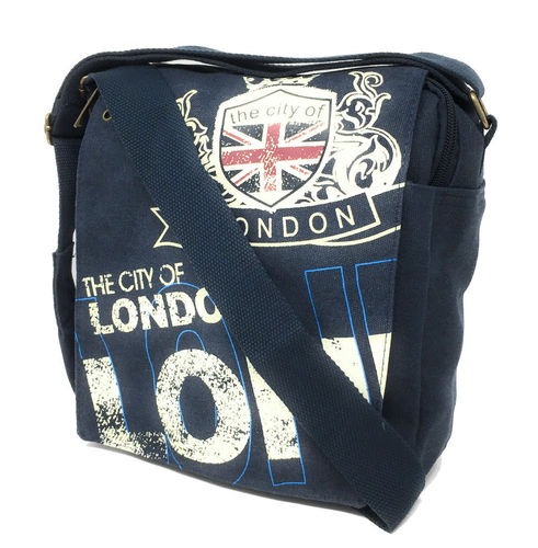 Robin Ruth London Crest Navy Blue Messenger Bag
