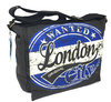 Robin Ruth London Wanted Large Black and Blue Messenger Bag