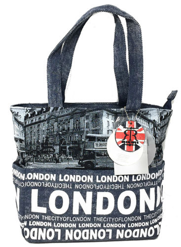 Robin Ruth London Photo Bus Navy Shopper Bag