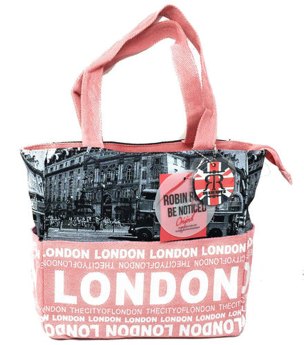 Robin Ruth London Photo Bus Pink Shopper Bag