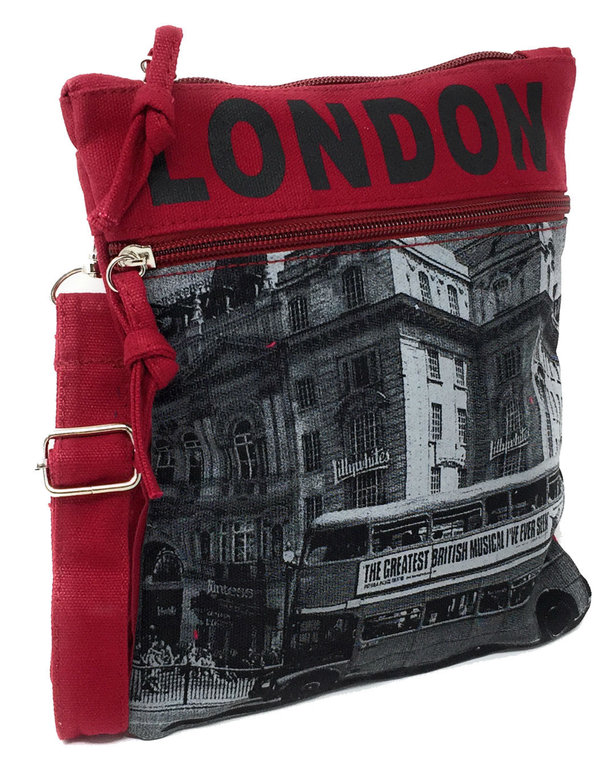 f64ed36bdff0 Robin Ruth London Bus Red and Grey Small Passport Bag