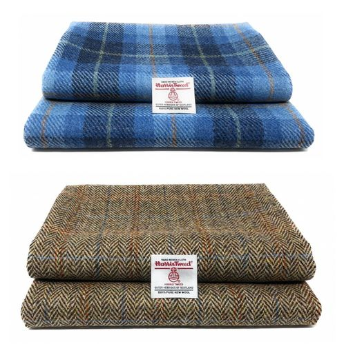 Traditional Harris Tweed Fabric with Authenticity Labels