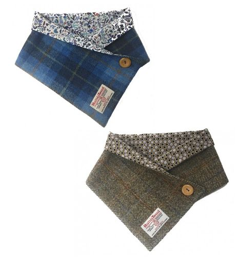 Harris Tweed Cowl Neck Warmer with Luxury Liberty Cotton Lining