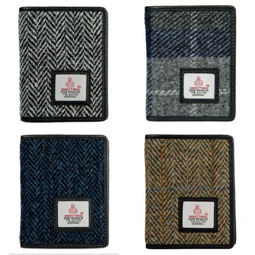 Harris Tweed Slim Bifold Card Holder Wallet Boxed
