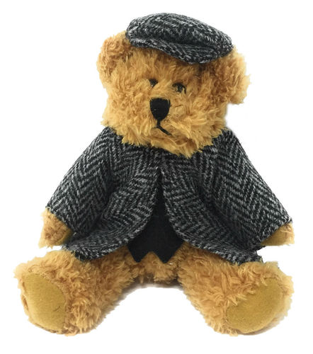 Harris Tweed Black Herringbone Dressed Scruffy Boy Bear
